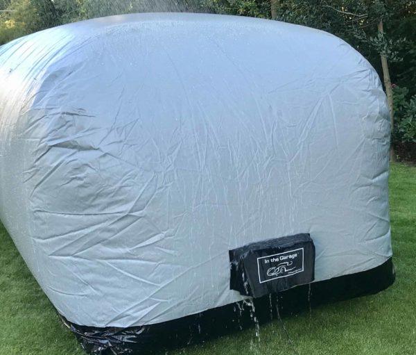 Outdoor Car Shield in the rain. Outdoor car cover - Outdoor car shield